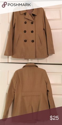 Camel Peacoat Gently Used Double Breasted Peacoat. Only selling I bought the longer version this year. Old Navy Jackets & Coats Pea Coats