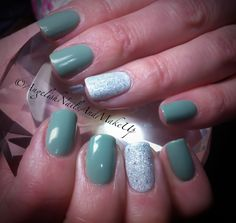 CND Shellac Sage Scarf with Ice Vapour www.facebook.com/AngelishNailsAndMakeUp