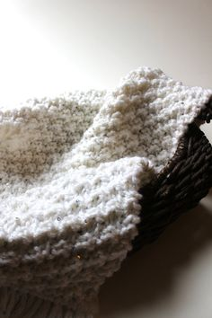 Buy White mini baby blanket /newborn photography prop/photography layering piece/newborn basket filler / newborn photo backdrop Ready to Ship by knitsandwhatknots. Explore more products on http://knitsandwhatknots.etsy.com