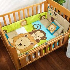 Baby crib set cute boys baby friends monkey c5fc8662ec52