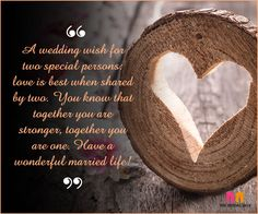 Marriage Wishes - Two Special Persons