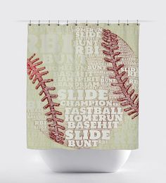 Sports Theme Shower Curtain Boys By Asmushomeinteriors