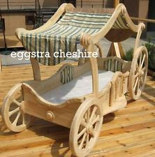 PRINCESS CARRIAGE WOODEN BED, HAND MADE, VERY UNIQUE, FIRST TIME IN UK