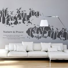 Deer Forest  Wall Decals                                                                                                                                                                                 Plus