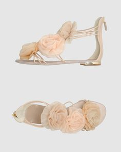 Giuseppe Zanotti chiffon flower sandals to dance the night away