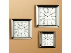 Set of Three Houston Wall Clocks