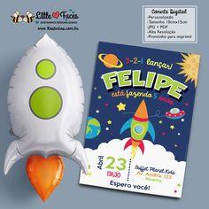 Convite Festa Astronauta Foguete para Imprimir