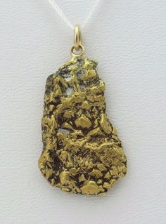 25 mm Cripple Creek Placer Gold Nugget Pendant | eBay
