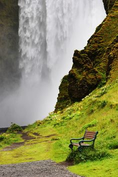 Enchanting Places ~ skogar waterfall iceland ~ by simon tong photography