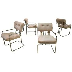 """Set of Four Guido Faleschini """"Tucroma"""" Dining Chairs by i4 Mariani for Pace 