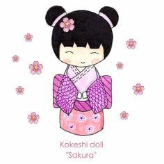 "Kokeshi Doll ""Sakura"""