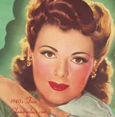36 Best 1940s Makeup Images 1940s Makeup Vintage Makeup Looks - 1940-makeup