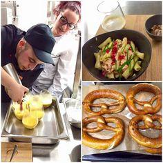 Abgefüllt und aufgebrezelt: Die Küchen-Kreationen erhalten den letzten Schliff. Ab Samstag gilts dann ernst #opening #restaurant #lounge #arlesheim #mammamia #food #chef #pasta #soup #brezel