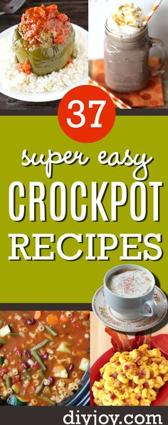 Easy crockpot recipes Pinterest ideas Healthy Slow Cooker, Slow Cooker Recipes, Crockpot Recipes, Cooking Recipes, Vegetarian Side Dishes, Vegetarian Recipes, Healthy Recipes, Chicken Parmesan Recipes, Delicious Dinner Recipes