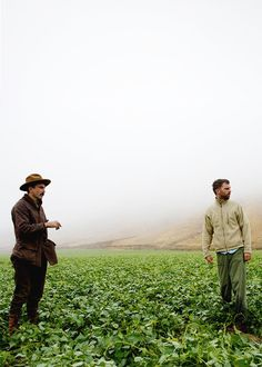 Daniel Day-Lewis and director Paul Thomas Anderson behind the scenes of his 2007 film, There Will Be Blood.