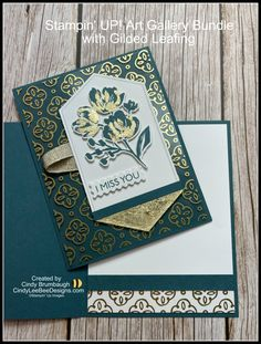 Stampin' UP! Art Gallery Bundle with Gilded Leafing Video Tutorial   Cindy Lee Bee Designs