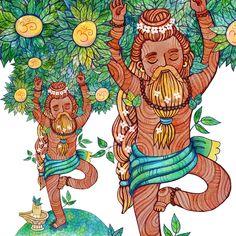 illustrator Samarskaya Milana   #yoga #yogin #hindy #hinduism #watercolor #shivalingam #aym #meditation #Illustration #artists #misamarskaya #иллюстрация #йога #медитация #акварель #дерево    http://miiiiiiilasha.tumblr.com/