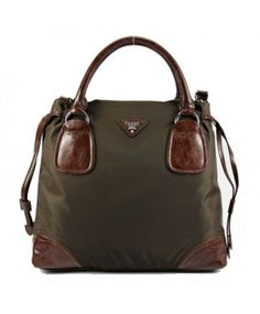 Prada sac en toile et cuir brun 29250 http://www.saclongchamppascherfrance.com/sacs-prada.html