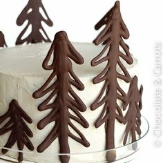 Winter cake decorations
