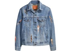 Stranger Things Levis Vintage Trucker Jacket Medium Wash - New with Tags . Condition is New with tags. Jaket Jeans, Levis Jacket, Stranger Things 3, Forever 21, Photography Poses For Men, Vintage Levis, Street Wear, Mens Fashion, Denim