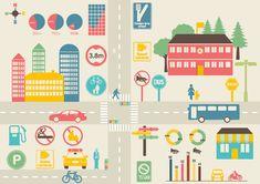 交通機関インフォグラフィック