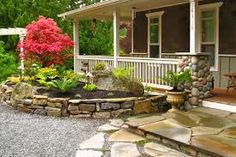 Front yard retaining wall idea.
