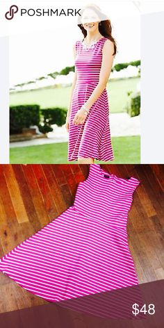 Talbolts pink striped casual evening dress Would make the perfect dress.dress is in excellent condition has no rips no stains no sign of wear.size medium.comfortable fit. Talbots Dresses