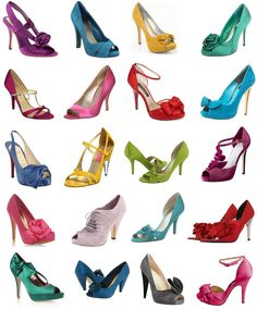 Colorful wedding shoes!
