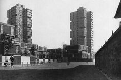 Canada Water Estate, Rotherhithe, London, UK (1964) | London County Council Architects' Department