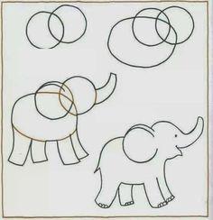 Tus hijos te dicen mami dibujame X animal, y no sabes como hacerlo aquí esta una manera facil.                                              ...