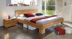 Holzbett massiv rustikal  Das Bett ist ein außergewöhnliches Stück Natur für Ihre vier Wände ...