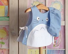 Totoro Baby blau Totoro 2 teiliges Set Totoro Baby Outift, Studio Ghibli, Kleidung, Baby-Dusche-Gitfs, Totoro Baby, hergestellt in Spanien,