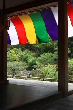 五色幕、智積院、京都 Five-coloured Curtain, Chishaku-in, Kyoto