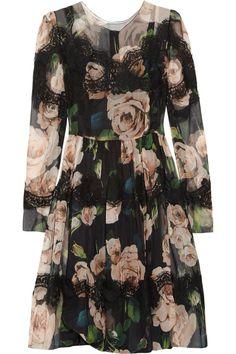 Floral-print silk-blend dress by Dolce & Gabbana