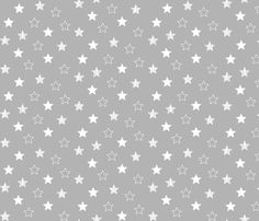 Stars Scattered - White on Gray fabric by cavutoodesigns on Spoonflower - custom fabric