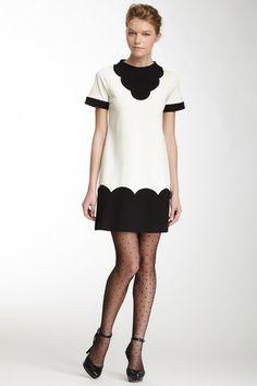 Scalloped Design Dress