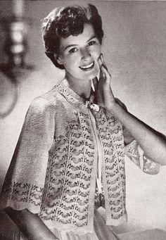 Vintage Lace Sweater Knitting Pattern