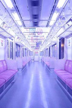 skeletonkeytomyheart: ☯ Soft Grunge // Pastel Goth ☾ // abandoned train abandoned subway with neon light Lavender Aesthetic, Aesthetic Colors, Aesthetic Pictures, 90s Aesthetic, Aesthetic Pastel, Knife Aesthetic, Aesthetic Grunge Tumblr, Aesthetic Vintage, Pastel Purple