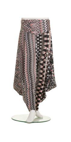 Jean Marc Philippe Multi Zig Zag Harem trouser: £65.00 + del, 94% polyester/6% elastane | idaretobe