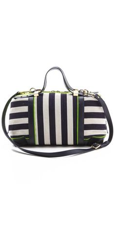 JC hansen striped bowler bag $170