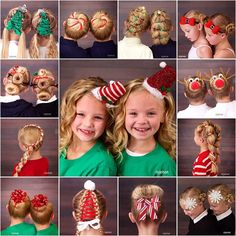 We've been having SO much fun with holiday hairstyles! Merry Christmas! 🎁🎅🎄Thank You! ⛄️🍭 🌟❄️#12daysofChristmasHair #twinshair #cutegirlshairstyles #hairinspiration #hairstylesforgirls #hairstyles #holidayhair #ChristmasHairstyle #holidayhairstyles