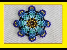 Estrellas en mostacilla para collar//como hacer empresa - YouTube Beading Patterns Free, Beaded Bracelet Patterns, Peyote Patterns, Seed Bead Flowers, Beaded Flowers, Beading Projects, Beading Tutorials, Seed Bead Earrings, Beaded Earrings