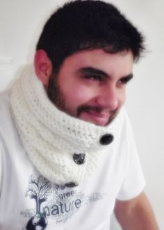 Mens neckwarmer cowl scarf valentines day gift  for by smilingpoet, $29.90 #mensapparel