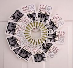 Love this Christmas card display, it could be modified so many different ways for just photos too!