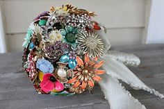 how to make a brooch boquet - this ones for you morgan - or for me to reference when i help you some day