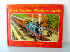 Thomas the tank engine vintage book, Tank engine Thomas again book, thomas book, Thomas book, by on Etsy Thomas The Tank, The Rev, Christening Gifts, Magpie, Cottage Chic, Vintage Books, I Am Happy, Engineering, 1970s