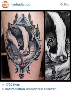 Salamandastron badger tattoo