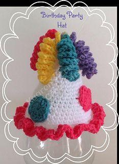 KaarensCrochet's Birthday Party Hat, pattern by Tara Murray