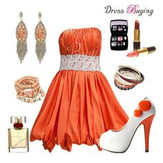 Orange semi formal