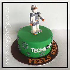 Lego Robotics Cake #legoroboticscake Cupcake Cakes, Cupcakes, Lego Cake, Robotics, Salad Recipes, Dips, Salads, Birthday Cake, Party